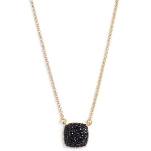 NEW Kate Spade Clay Pave Square Necklace in Black